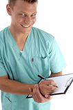 Smart surgeon looking at camera Royalty Free Stock Photo