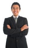 Smart sydostlig asiatisk affärsman Arkivfoton