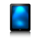 SMART TAB. Tab 3 illustration. Front view a tablet  on white background. Black color. An additional Vector .Ai file available. (you can use elements separately Stock Photos
