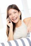 smart talande kvinna för asiatisk telefon Arkivfoton
