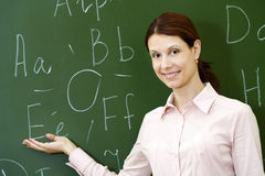 Smart teacher Stock Image