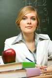 Smart teacher Stock Photo