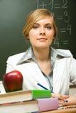 Smart teacher stock photo