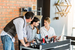 Smart team working together in office Royalty Free Stock Images