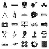 Smart technology icons set, simple style. Smart technology icons set. Simple set of 25 smart technology vector icons for web isolated on white background Stock Images