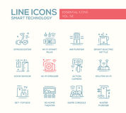 Smart Technology- line design icons set Royalty Free Stock Image