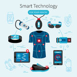 Smart Technology Line Poster Royalty Free Stock Photo