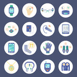 Smart Technology Round Icons Set Stock Photo