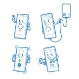 smart tecknad filmtelefon Royaltyfri Fotografi
