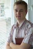 Smart teenager stock photo