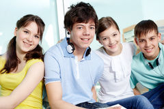 Smart teens Stock Photo