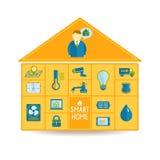 Smart teknologibegrepp för hem- automation Royaltyfria Bilder