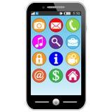 Smart telefon. royaltyfri illustrationer