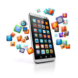 smart telefon 3d Fotografering för Bildbyråer