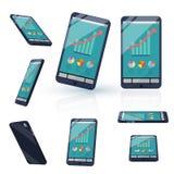 smart telefon 3d Royaltyfri Fotografi