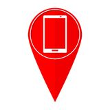 Smart telefon för översiktspekare stock illustrationer