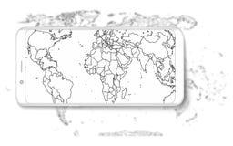 smart telefon Smart telefon för realistisk mobiltelefon med den tomma skärmen som isoleras på bakgrund Vektorillustration för uts Royaltyfria Bilder
