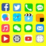 Smart telefon för symbol Royaltyfri Bild