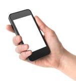Smart telefon i hand Arkivbild