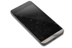 Smart telefon med skrapor på skärmen Royaltyfri Fotografi