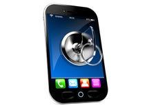 Smart telefon med tangent royaltyfri illustrationer