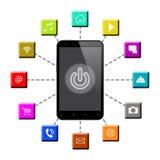 Smart telefon och Apps royaltyfri illustrationer