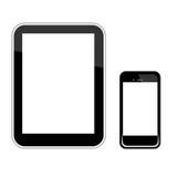 Smart telefon- och minnestavlaPCvektor Arkivfoton
