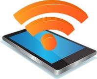 Smart telefon och trådlös teknologi royaltyfri bild