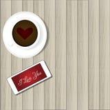 Smart telefon och varmt kaffe Royaltyfri Fotografi