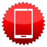 Smart telefon, rött soltecken stock illustrationer