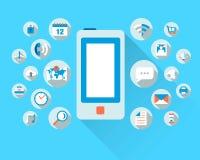 Smart telefonbegrepp vektor illustrationer