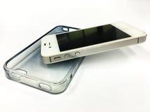 Smart-telefone no caso móvel fotografia de stock