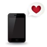 Smart telefonförälskelsetext Royaltyfri Illustrationer