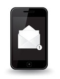 Smart telefonpost Stock Illustrationer