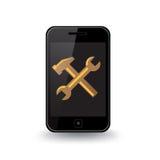 Smart telefonreparation Stock Illustrationer