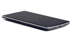Smart telefonslut upp på vit Royaltyfria Bilder