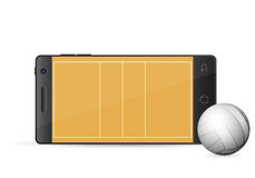 Smart telefonvolleyboll Arkivfoton