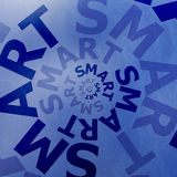 Smart text illustration blue Stock Image
