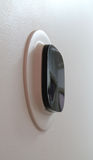 Smart Thermostat. Angle shot of a smart, wifi thermostat Stock Images
