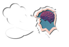 Smart thinker or speaker Stock Image