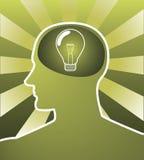 Smart thinking stock illustration