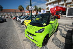 Smart Times 2014. Smarts parked in Smart Times 2014 event in cascais portugal http://www.smarttimes14.com Royalty Free Stock Photo