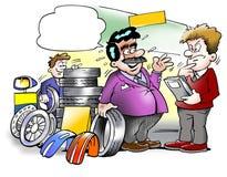 Smart tire seller Stock Photos