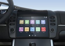Smart touch screen multimedia system for automobile. Original design Royalty Free Stock Images