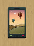 smart trä för telefon royaltyfri illustrationer