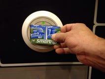 Smart trip metro card reader Royalty Free Stock Photos