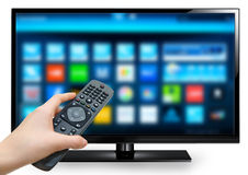 Smart TV Photos libres de droits