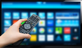 Smart TV Photographie stock