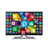 Smart TV Appliacations Stock Images