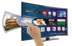 Smart tv with apps Stock Image